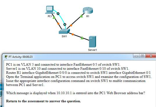 CCNA 2 v7 Modules 1 - 4: Switching Concepts, VLANs, and InterVLAN Routing Exam Answers 4
